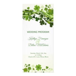 Panfleto Programa irlandês do casamento do trevo