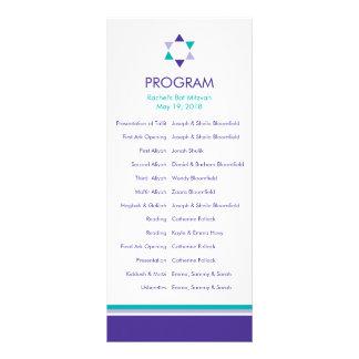 Panfleto Programa moderno de Mitzvah do bastão da estrela