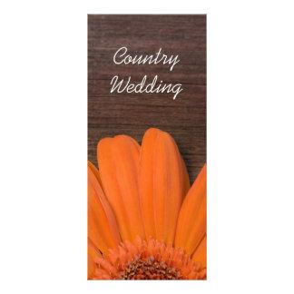 Panfleto Programa rústico do casamento do celeiro do país
