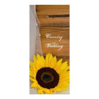 Panfleto Programa rústico do girassol e do casamento do