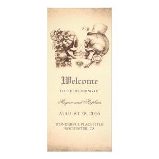 Panfleto Programas bonito mortais do casamento do casal do