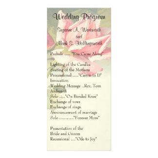 Panfleto Programas cor-de-rosa do casamento do vintage
