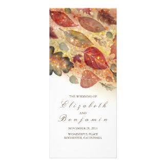 Panfleto Programas do casamento do brilho das folhas da