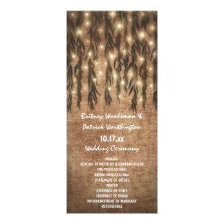 Panfleto Programas do casamento vintage da árvore de