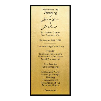 Panfleto Programas elegantes do casamento do design do