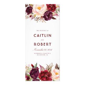 Panfleto Programas florais do casamento de Borgonha