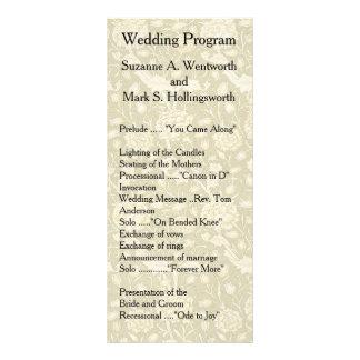 Panfleto Programas florais do casamento, matéria têxtil,