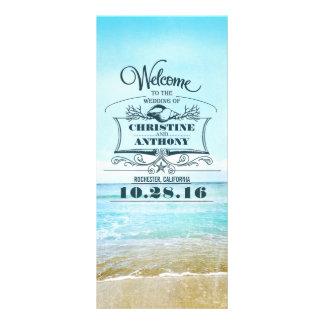 Panfleto programas românticos do casamento de praia