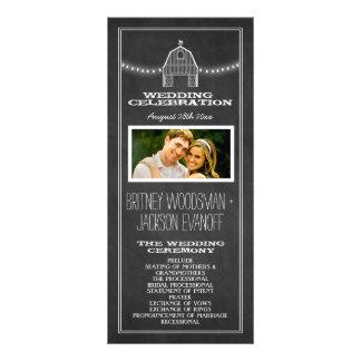 Panfleto Programas rústicos do casamento do celeiro do