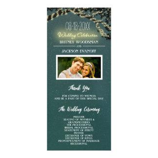 Panfleto Programas rústicos do casamento do ramo de árvore