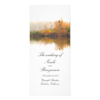 Panfleto Programas rústicos do casamento outono