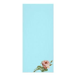 Panfleto Rosa do rosa do vintage no Aqua pálido