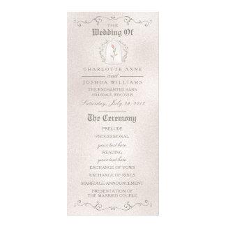 Panfleto Rosa elegante do PROGRAMA | do CASAMENTO da beleza