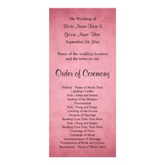 Panfleto Rosa obscuro escuro programa Mottled do casamento