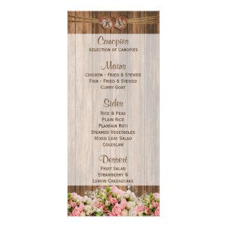 Panfleto Rosas cor-de-rosa e brancos bonitos na madeira -