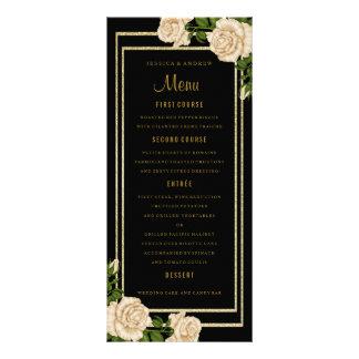 Panfleto Rosas de canto chiques elegantes do marfim que