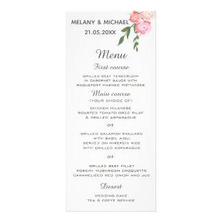 Panfleto rosas de florescência da aguarela do boho que