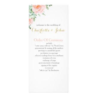 Panfleto rosas do pêssego do succulent da aguarela que