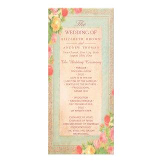 Panfleto Rosas elegantes do vintage que Wedding o programa