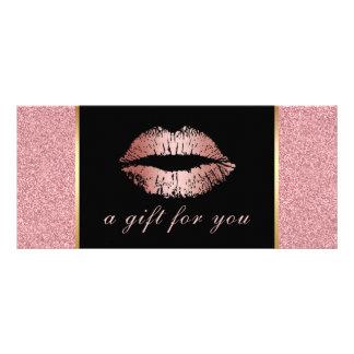 Panfleto Salão de beleza cor-de-rosa dos lábios do brilho