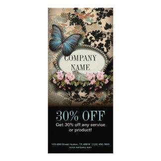 Panfleto Salão de beleza floral dos TERMAS da borboleta do