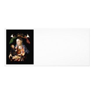 Panfleto Salgando Madonna e a criança do cristo