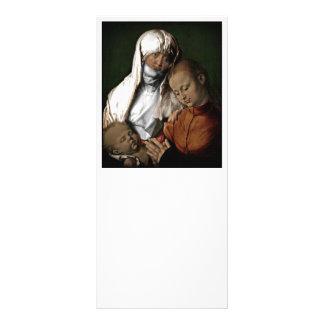 Panfleto Santo Anne que admira o bebê Jesus