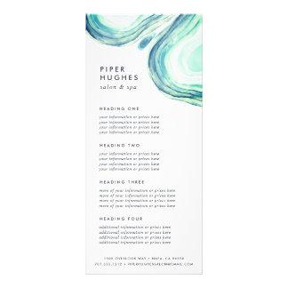 Panfleto Serviços ou tabela de preços de Seaglass Geode |