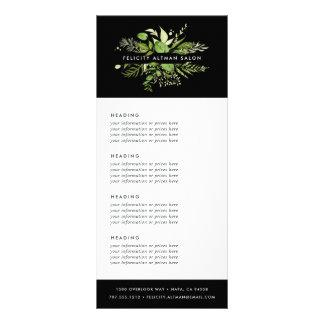 Panfleto Serviços ou tabela de preços selvagem do prado  