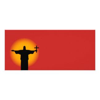 Panfleto Silhueta com uma cruz