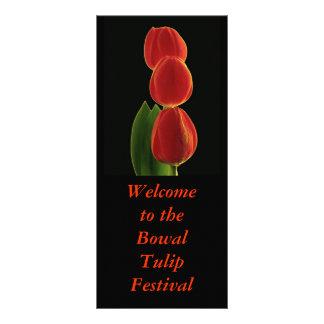 Panfleto Simplicidade 1, boa vinda ao Bowal TulipFestival