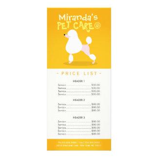 Panfleto Tabela de preços de assento do salão de beleza da