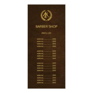 Panfleto Tabela de preços do olhar do couro do marrom