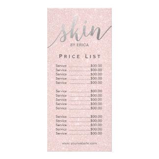 Panfleto Tabela de preços elegante do Esthetician dos