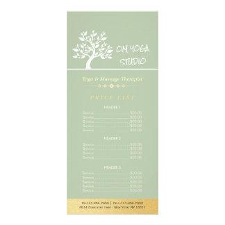Panfleto Tabela de preços elegante do treinador da vida do