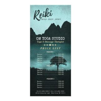 Panfleto Tabela de preços natural do mestre de Reiki & do