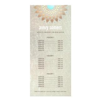 Panfleto Tabela de preços ornamentado da madeira da mandala
