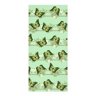 Panfleto Teste padrão de borboletas verde