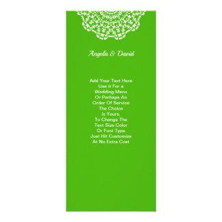 Panfleto Teste padrão laçado branco verde personalizado