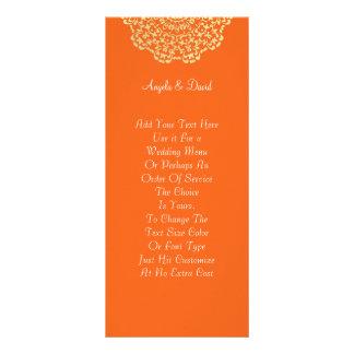Panfleto Teste padrão laçado do ouro alaranjado de Brown