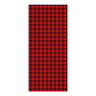 Panfleto Teste padrão vermelho e preto de Houndstooth
