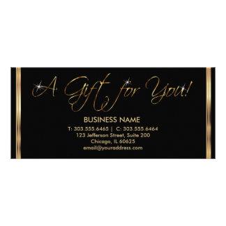 Panfleto Um certificado de presente - preto e ouro