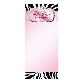 Panfleto Zebra cor-de-rosa pródiga da bandeja 311
