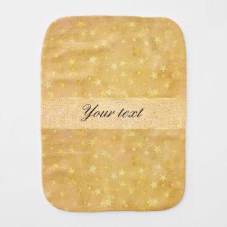 Paninho De Boca A folha de ouro personalizada Stars a aguarela
