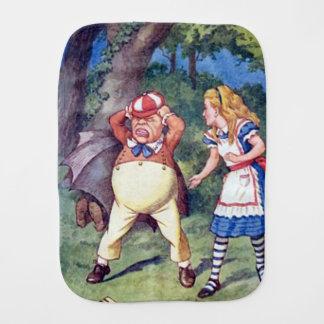 Paninho De Boca Alice & o irritados Tweedle o pano do Burp