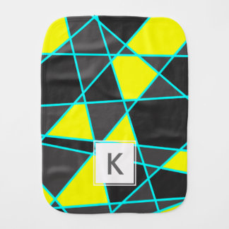 Paninho De Boca amarelo de néon brilhante geométrico elegante e
