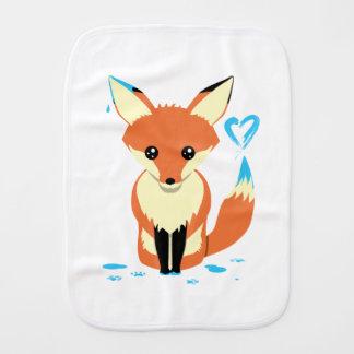 Paninho De Boca Bebê do Fox que pinta o coração azul com cauda