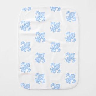Paninho De Boca Branco/azul de pano do Burp do bébé™ da flor de