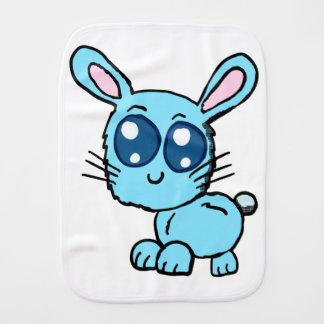 Paninho De Boca Camisa azul do bebê do coelho de Chibi