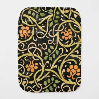 Paninho De Boca Design floral preto do impressão da arte de